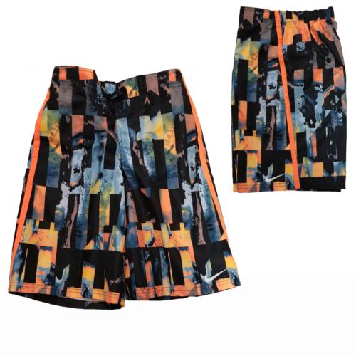 nike-boys-orange-print-volley-trunks